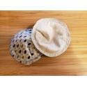 Coupon de tissus satin de coton fil d'argent  40x70cm