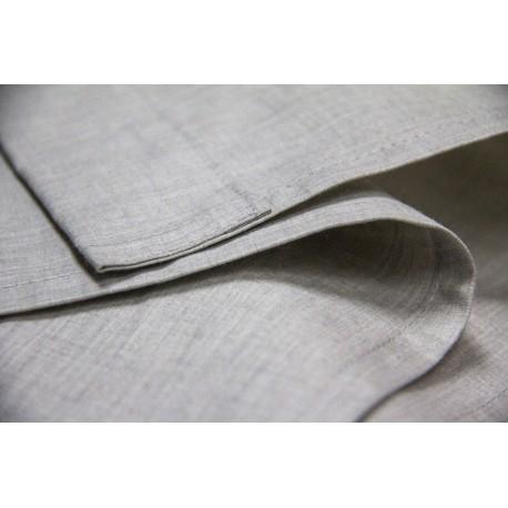 DRAP PLAT COTON/ARGENT